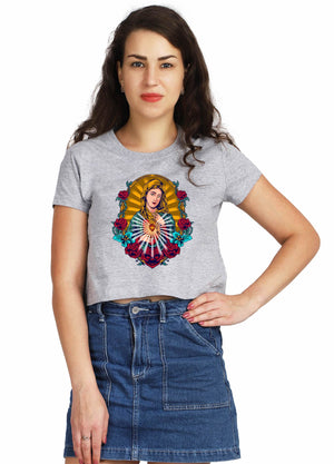In Lord We Trust Crop Top