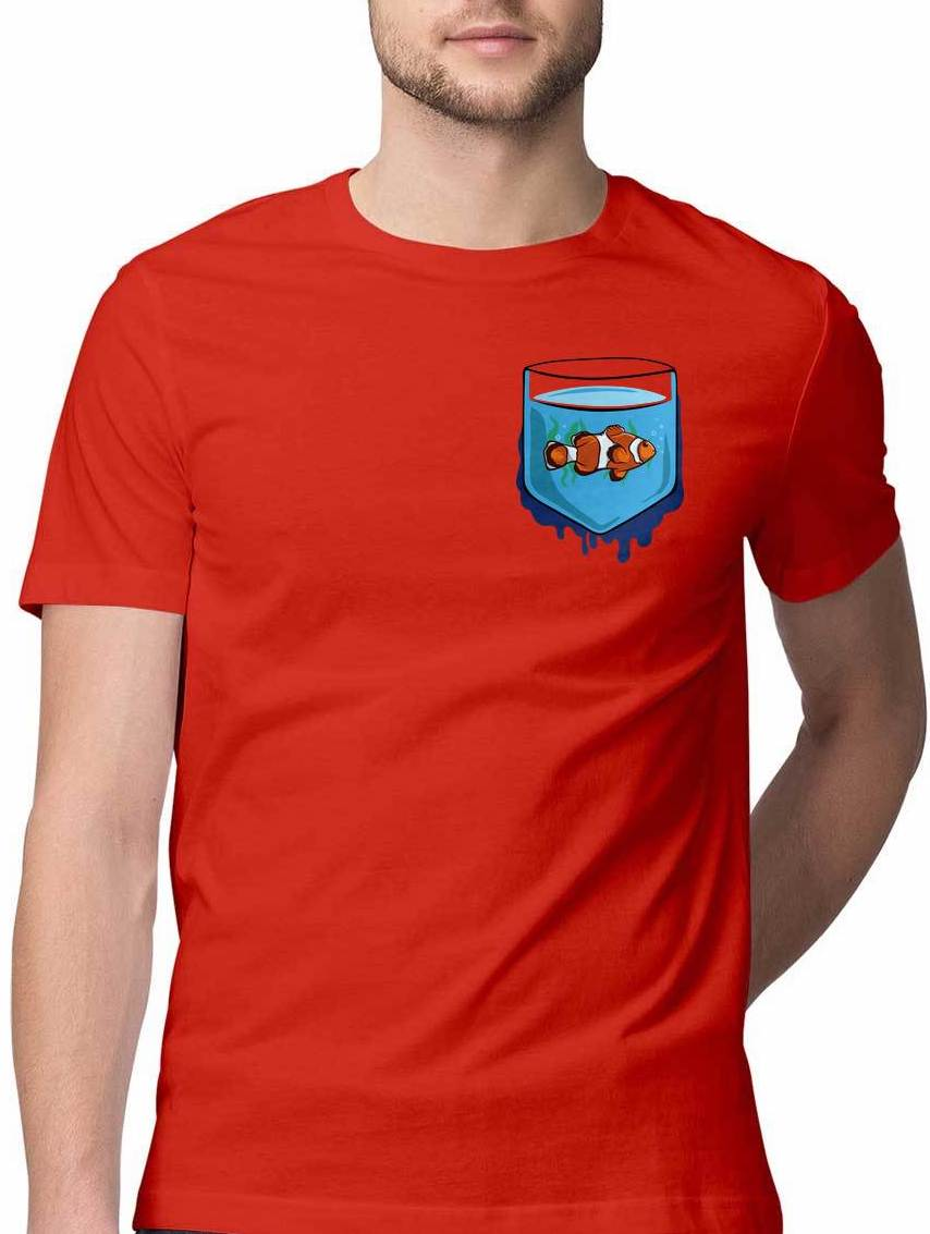 WHAT THE FISH VIRTUAL POCKET T SHIRT