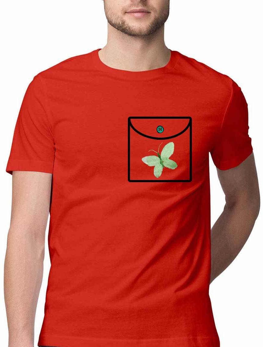 LONELY GREEN BUTTERFLY VIRTUAL POCKET T SHIRT