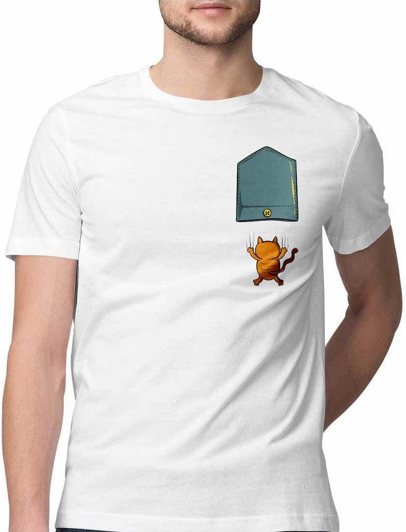 RAINING CATS AND CATS VIRTUAL POCKET T SHIRT