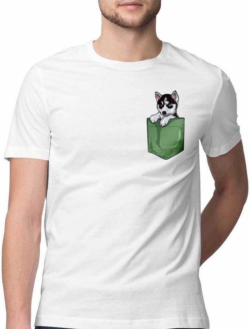 DUSKY HUSKY VIRTUAL POCKET T SHIRT