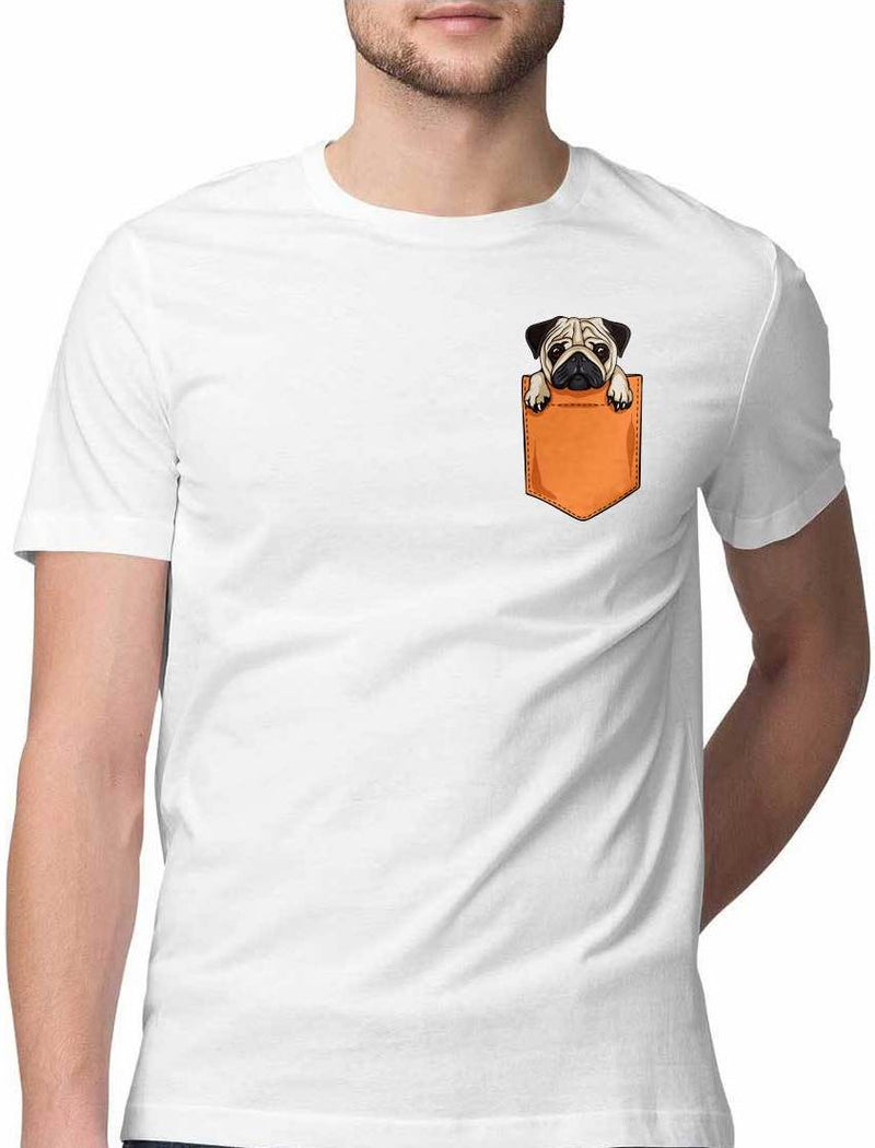 WHAT THE PUG VIRTUAL POCKET T SHIRT