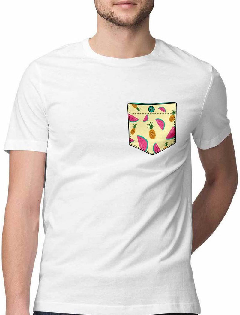 TROPICAL FRUITS VIRTUAL POCKET T SHIRT