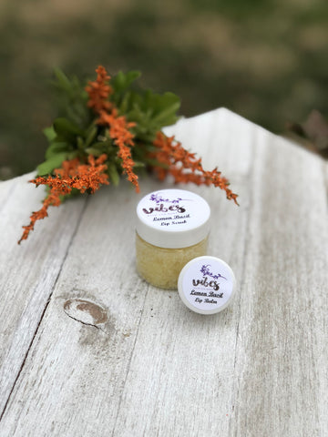Lip Balm/Lip Scrub Duo (Lemon/Basil)