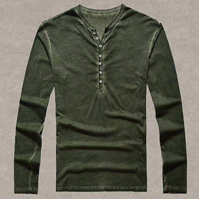 Men's Vintage Cotton Long Sleeved T-Shirts - The Clothing Corp