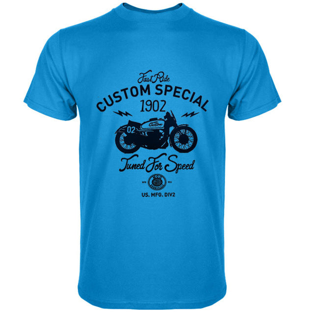 Men's Custom Special Motorcycle T-Shirts Various Colours - The Clothing Corp