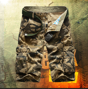 Men's Camouflage Cargo Casual Shorts - The Clothing Corp