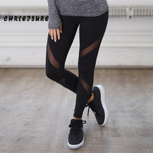 Women's Black Leggings With Mesh Inserts - The Clothing Corp