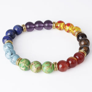 7 Stone Chakra Bracelet - The Clothing Corp