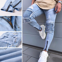 Men's Ripped Slim Fit Denim Jeans - The Clothing Corp