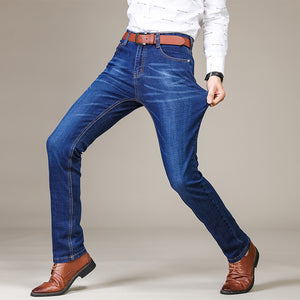 Men's Straight Scratch Pattern Stretch Jeans - The Clothing Corp
