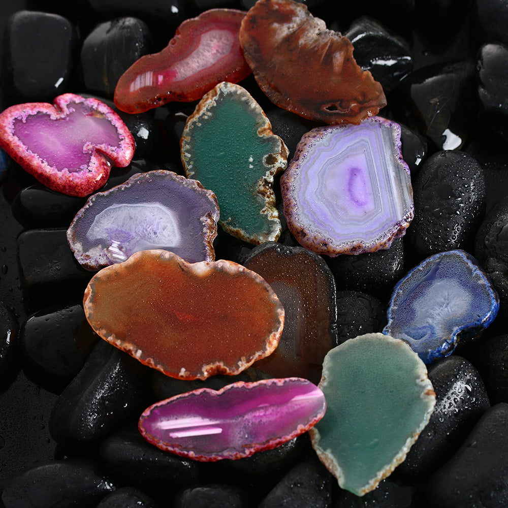 Agate Geode Polished Crystal - The Clothing Corp