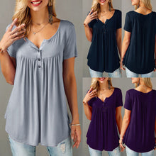 Women's Solid Row Pleated Shirt - The Clothing Corp