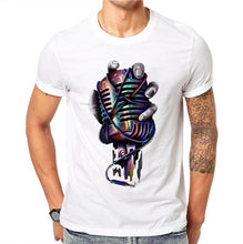 Men's Printed Microphone 100% Cotton T-Shirts - The Clothing Corp