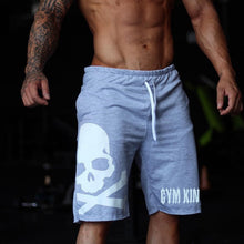 Men's Skull Print Gym Shorts - The Clothing Corp