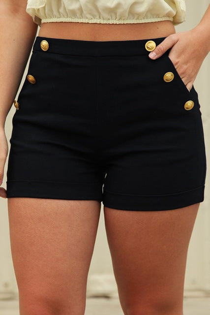 Women's Skinny Elastic Waist Shorts - The Clothing Corp