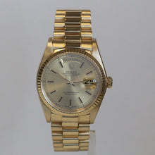 Load image into Gallery viewer, Rolex Mens 18k Yellow Gold Day Date President 18038 Champgne Black