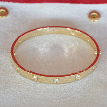 Load image into Gallery viewer, Cartier Love Bracelet Yellow Gold With 10 Diamonds Size 17