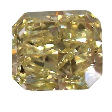 Fancy Yellow Radiant GIA Diamond 2.71 CT.