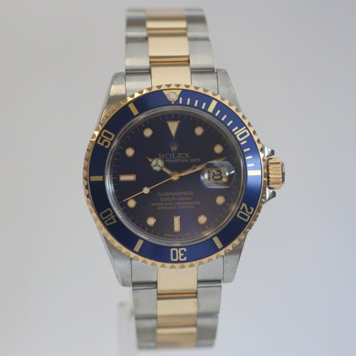 Rolex 16613 Steel and Gold Submariner Blue dial