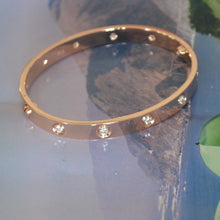 Load image into Gallery viewer, Cartier Love Bracelet Rose Gold With 10 Diamonds Size 17