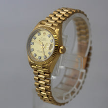 Load image into Gallery viewer, Rolex Ladies Datejust 69178 18k Yellow Gold Champagne Diamond Dial