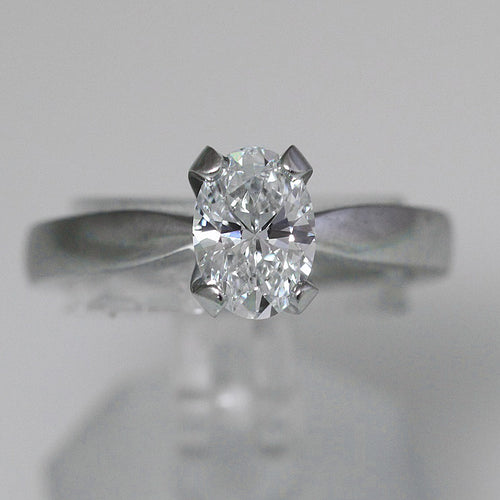 Oval Diamond Ring I VS1 - GIA 1.14CT