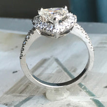 Load image into Gallery viewer, Heart Shape Diamond Halo Engagement Ring -1.7 Carat TW