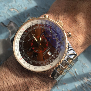 Breitling Navitimer C23340 Rose Gold and Stainless