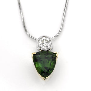 Tsavorite Gem 2.72 Carat Pendant Green With Diamond