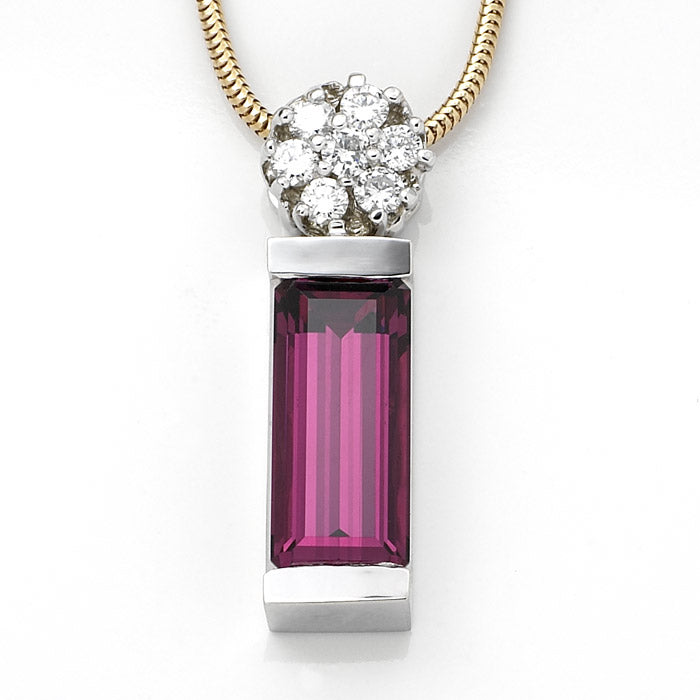 Rhodolite Pendant - Custom Jewelry Los Angeles