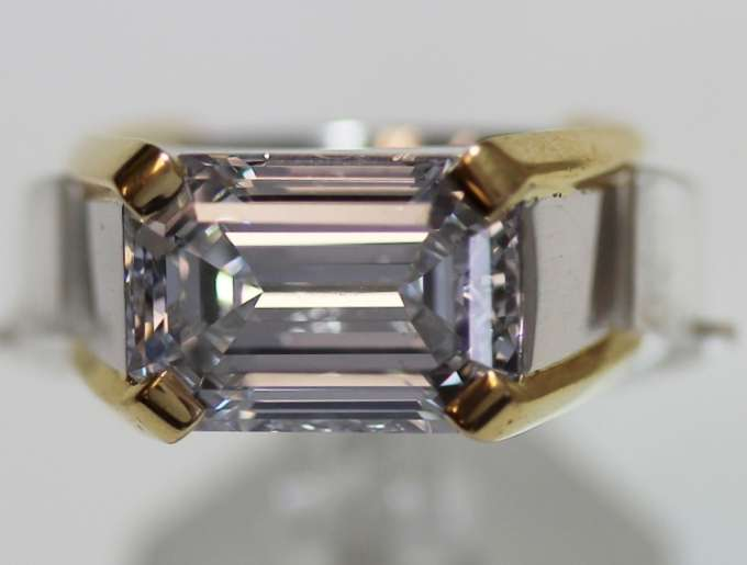 Huge Emerald Cut Diamond Ring - Mens 7.21 Carat E SI1