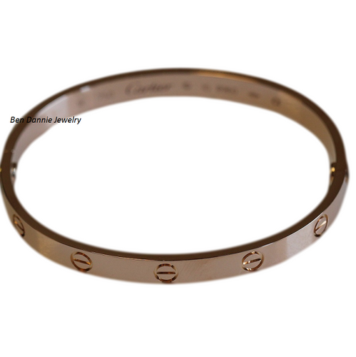Cartier Love Bracelet 18k Rose Size 17