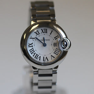 Cartier Ladies Stainless Ballon Bleu White Dial W69010Z4