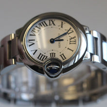Load image into Gallery viewer, Cartier Ladies Stainless Ballon Bleu White Dial W69010Z4