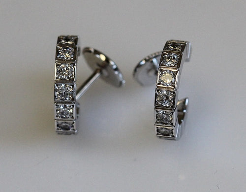 Cartier 18k White Gold & Diamond Laniere Earrings