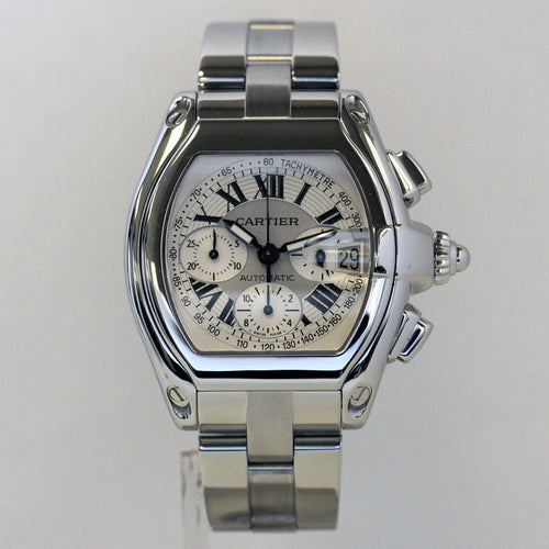 Cartier Mens Steel XL Roadster Chronograph 2618