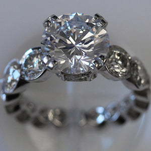 Diva Ring - Signature Round Diamond Statement Ring Big and Unique