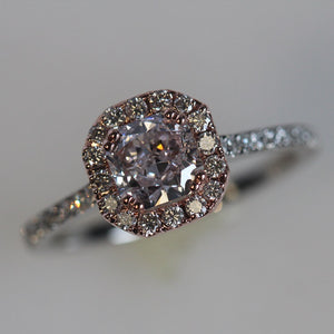 Fancy Pink Diamond Engagement Ring 1.20 CTW