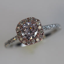 Load image into Gallery viewer, Fancy Pink Diamond Engagement Ring 1.20 CTW