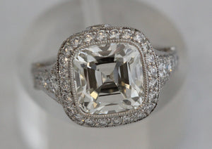 Tiffany & Co. 5.12 ctw Ladies Cushion Legacy H VS2 Diamond Ring