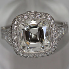 Load image into Gallery viewer, Tiffany & Co. 5.12 ctw Ladies Cushion Legacy H VS2 Diamond Ring