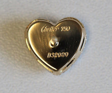 Load image into Gallery viewer, Cartier 18k Y Gold Pave Diamond Heart Earrings