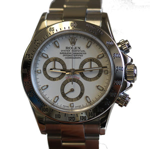 Rolex Mens Stainless Daytona D Serial White 116520