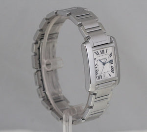 Cartier Mens Stainless Steel Tank Francaise Box/Papers W51002Q3