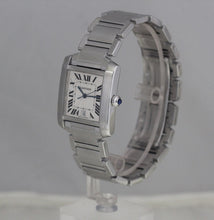 Load image into Gallery viewer, Cartier Mens Stainless Steel Tank Francaise Box/Papers W51002Q3
