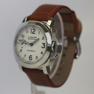 Panerai Pam 113 Luminor Marina White Dial 44mm Box and Papers