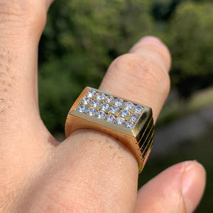 1.08 Carat Diamond Ring/Band, 10 Karat, 1980s Ben Dannie Original Design