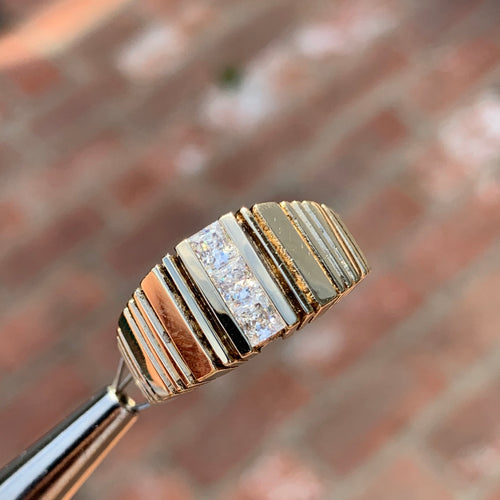 0.60 Carat Diamond Ring/Band, 10 Karat, 1980s Ben Dannie Original Design