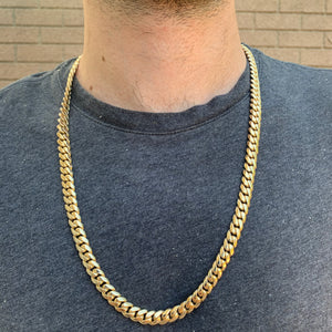 "New Cuban Link Chain 26"" 149 grams of SOLID 14K gold 9mm"